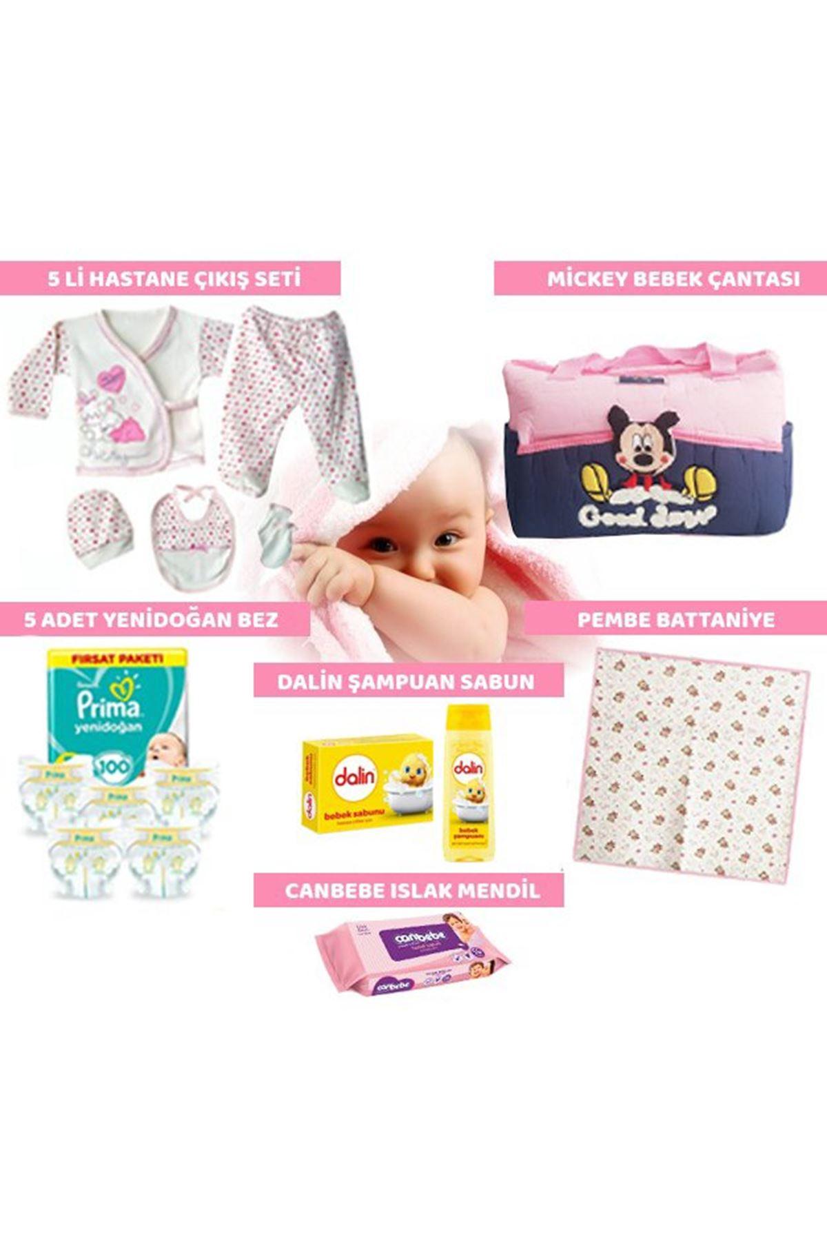 15 Parça Bebek Doğum Seti - Pembe