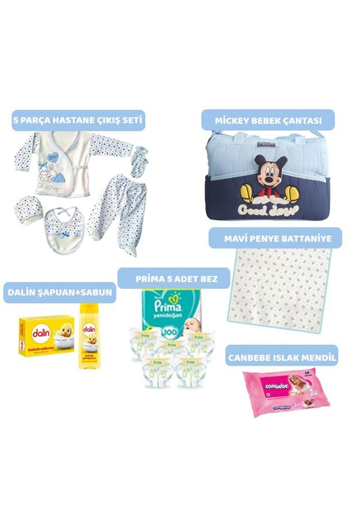 15 Parça Bebek Doğum Seti - Mavi