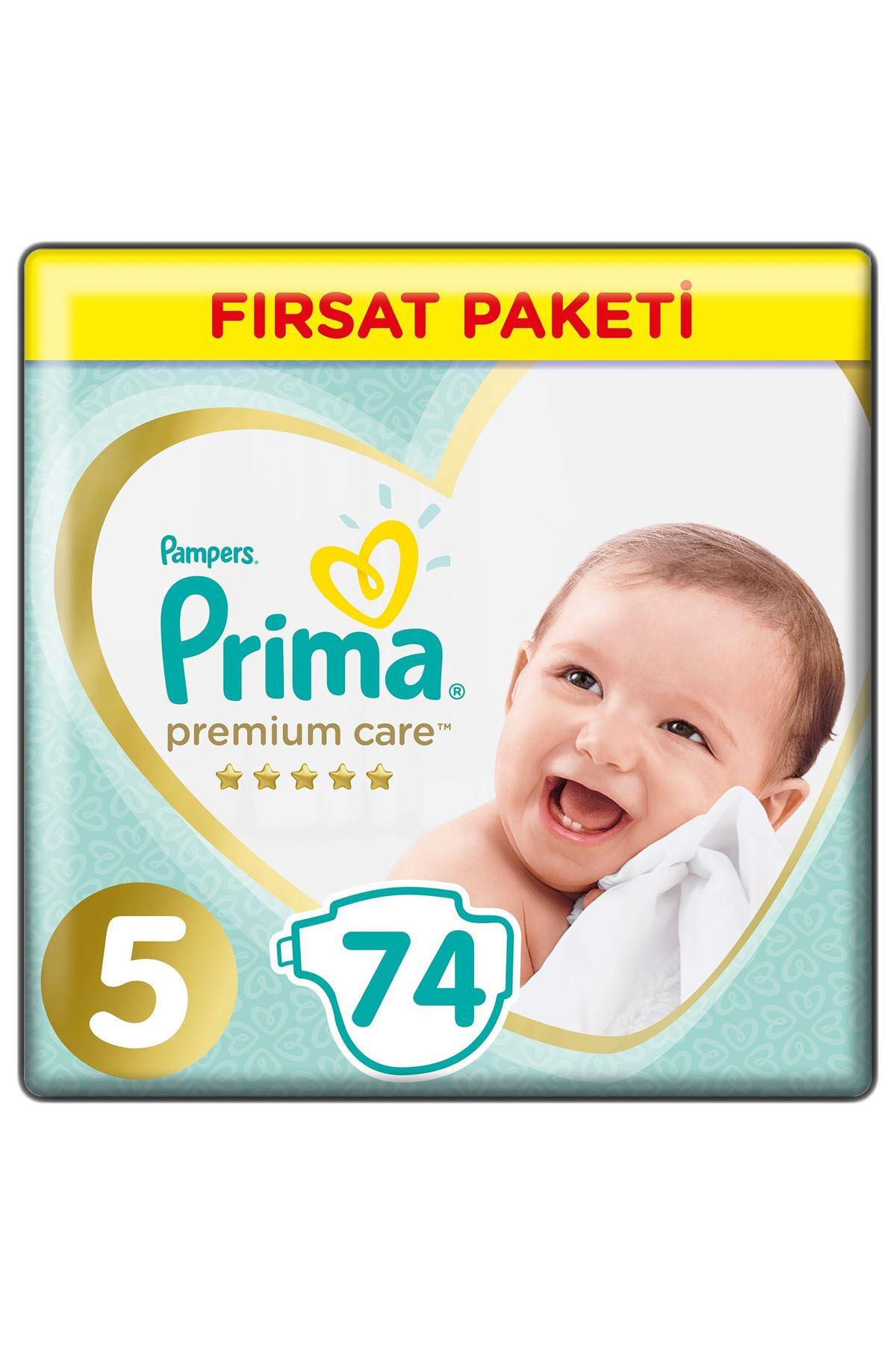 Prima Premium Care Bebek Bezi Fırsat Paketi 5 Beden 74 Adet