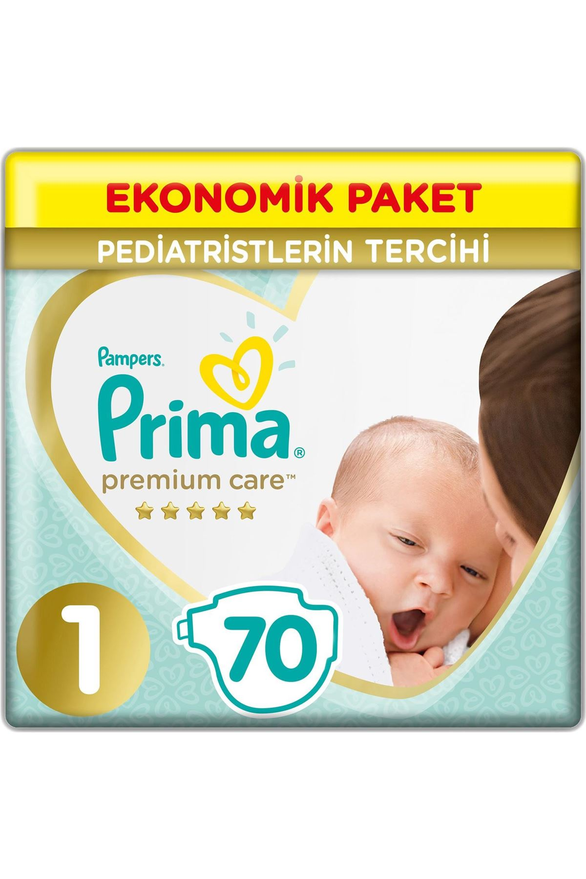 Prima Premium Care Bebek Bezi Ekonomik Paket 1 Beden 70 Adet
