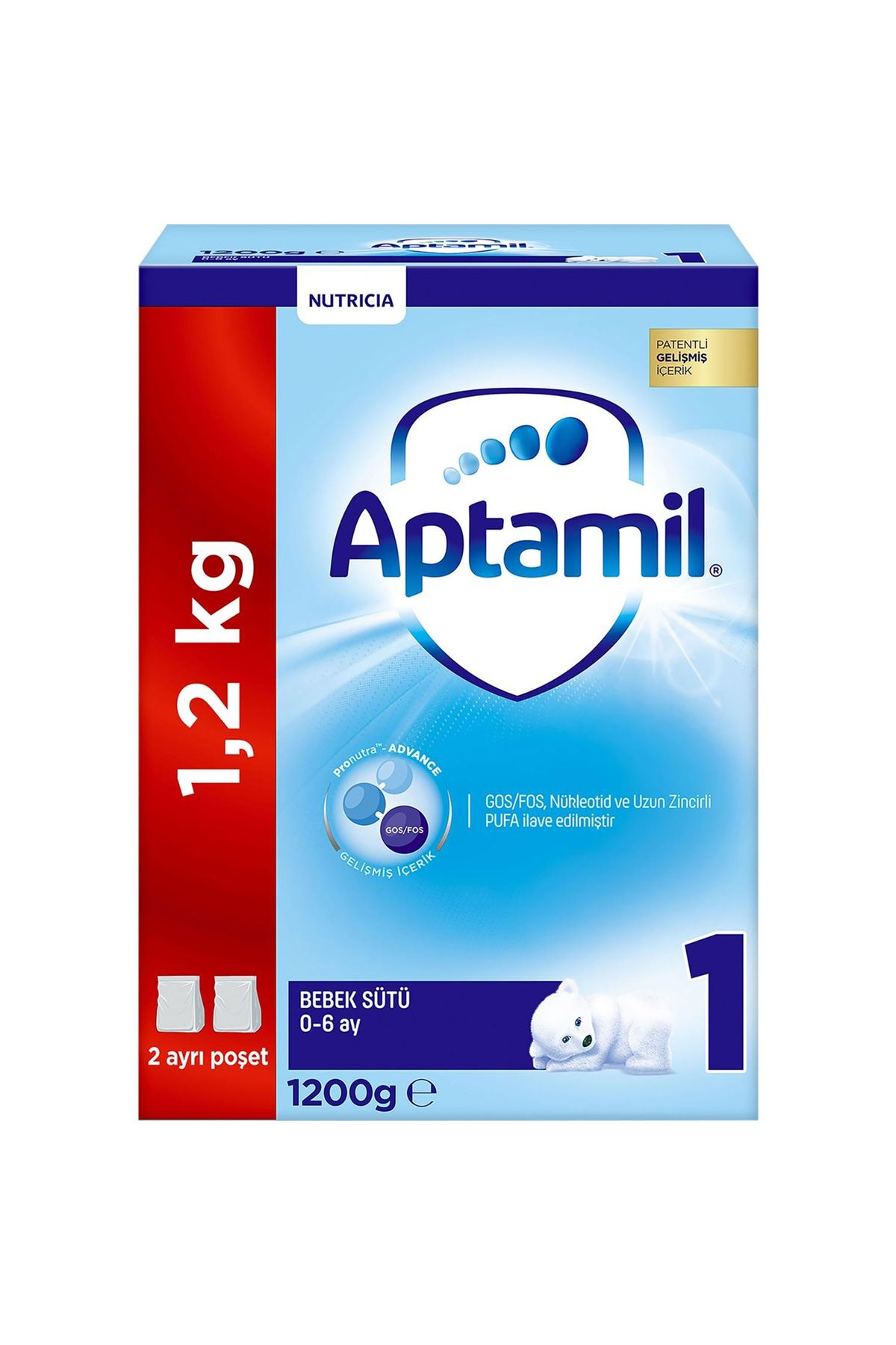 Aptamil 1 Bebek Sütü 0-6 Ay 1200 Gr