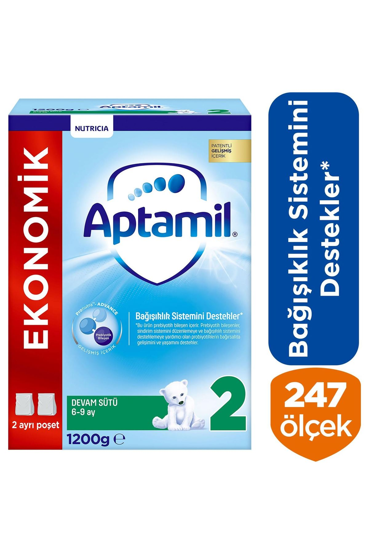 Aptamil 2 Bebek Devam Sütü 6-9 Ay 1200 Gr