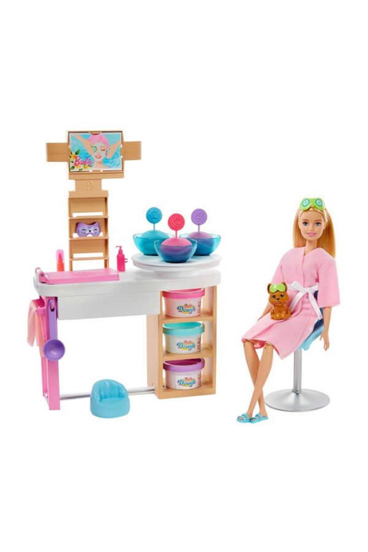 Barbie Yüz Bakımı Yapıyor Oyun Seti GJR84