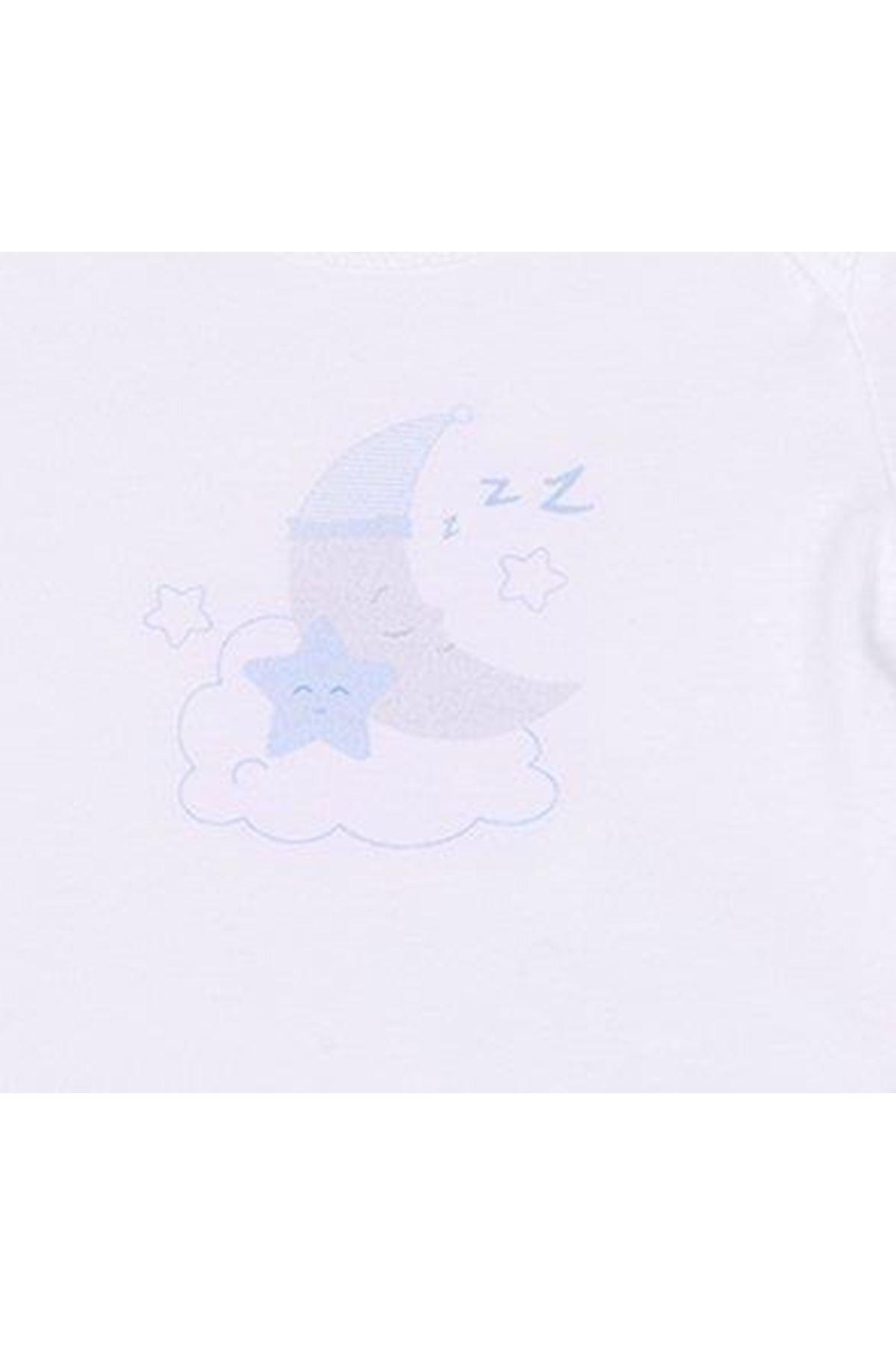 KitiKate Organik Dreams Amerikan Yaka Body 14037 Mavi