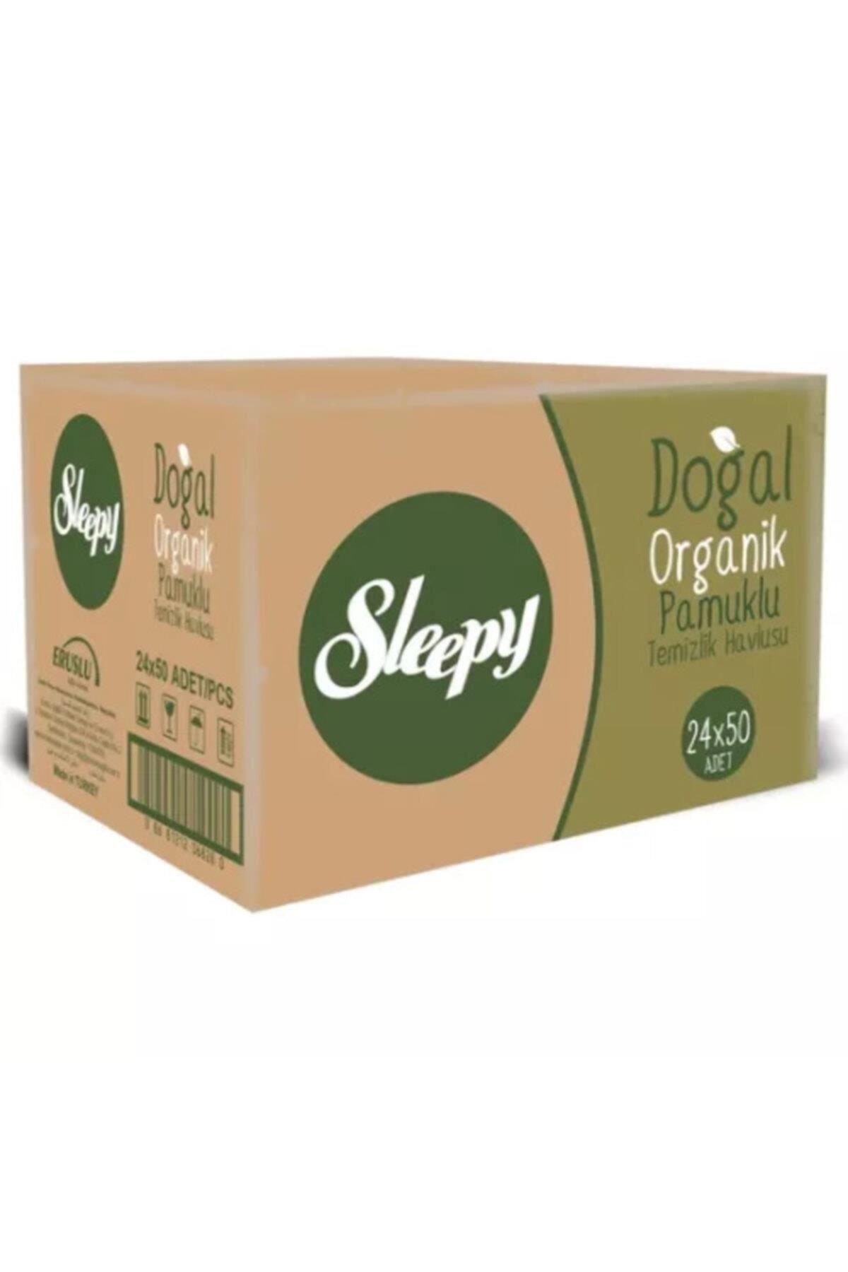 Sleepy Doğal Organik Pamuklu Islak Havlu Mendil 24x50 (1200 Yaprak)