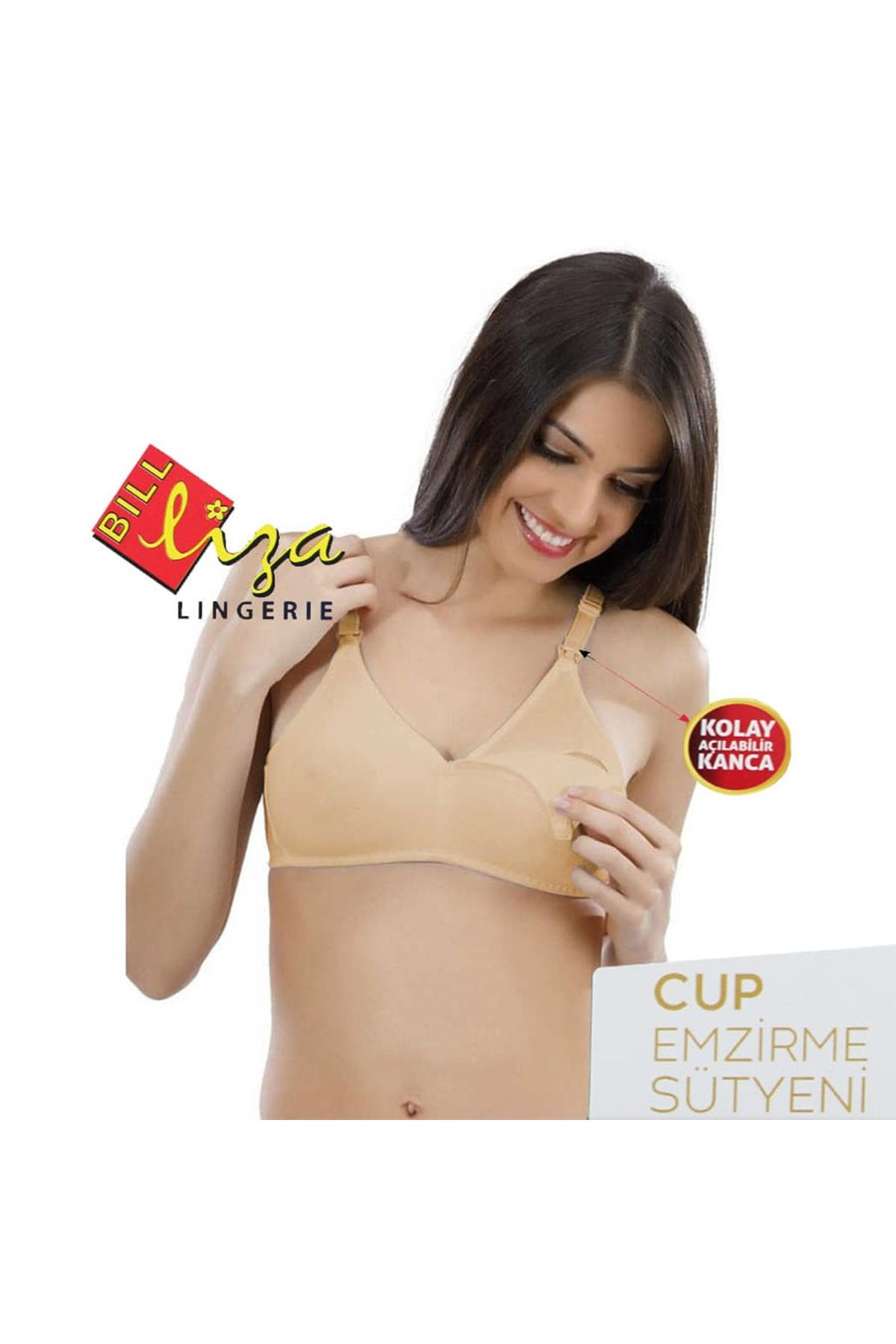 Liza Cup Silikonlu Emzirme Sütyeni Bej