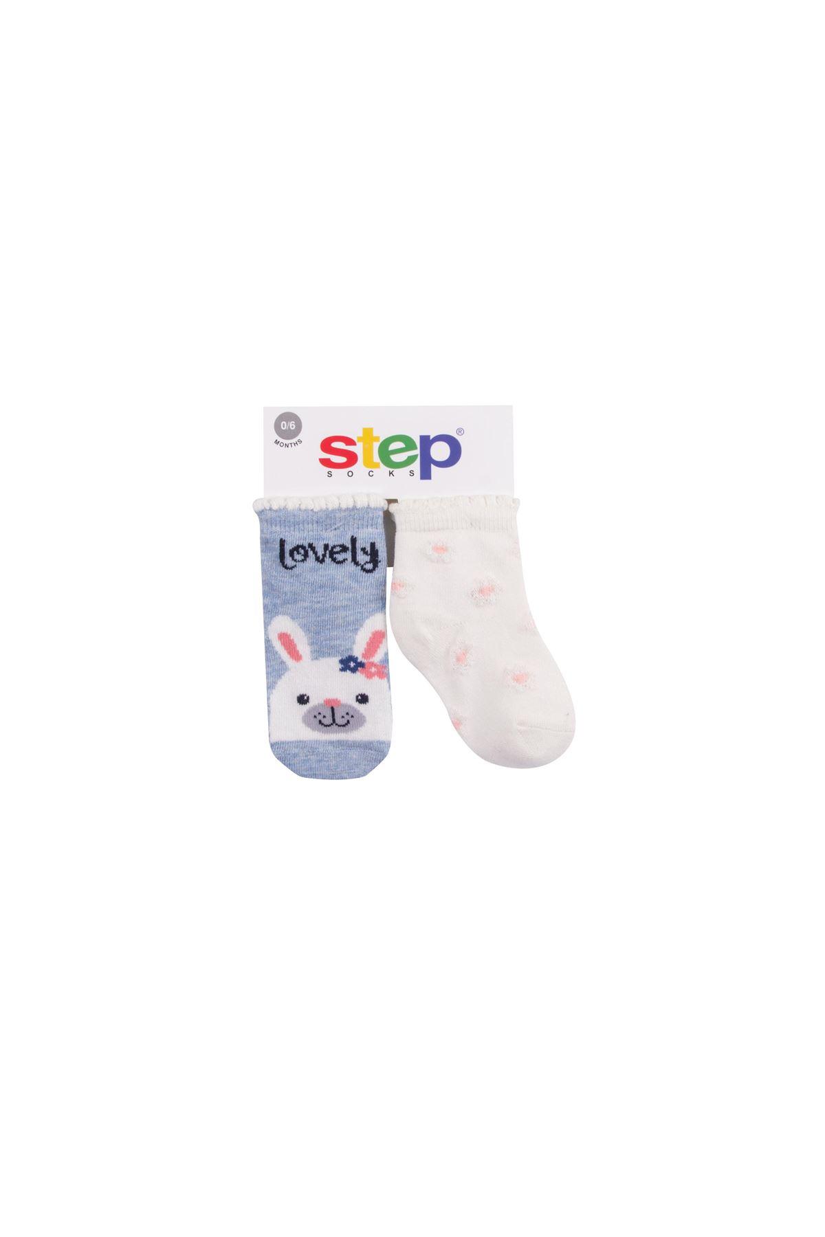 Step 2li Şal Rabbit Soket Çorap 10175 Karışık Renkli