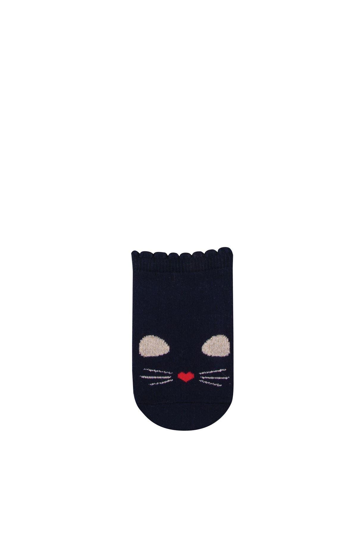 Step Simli Cat Patik Soket Çorap 3841 Karışık Renkli