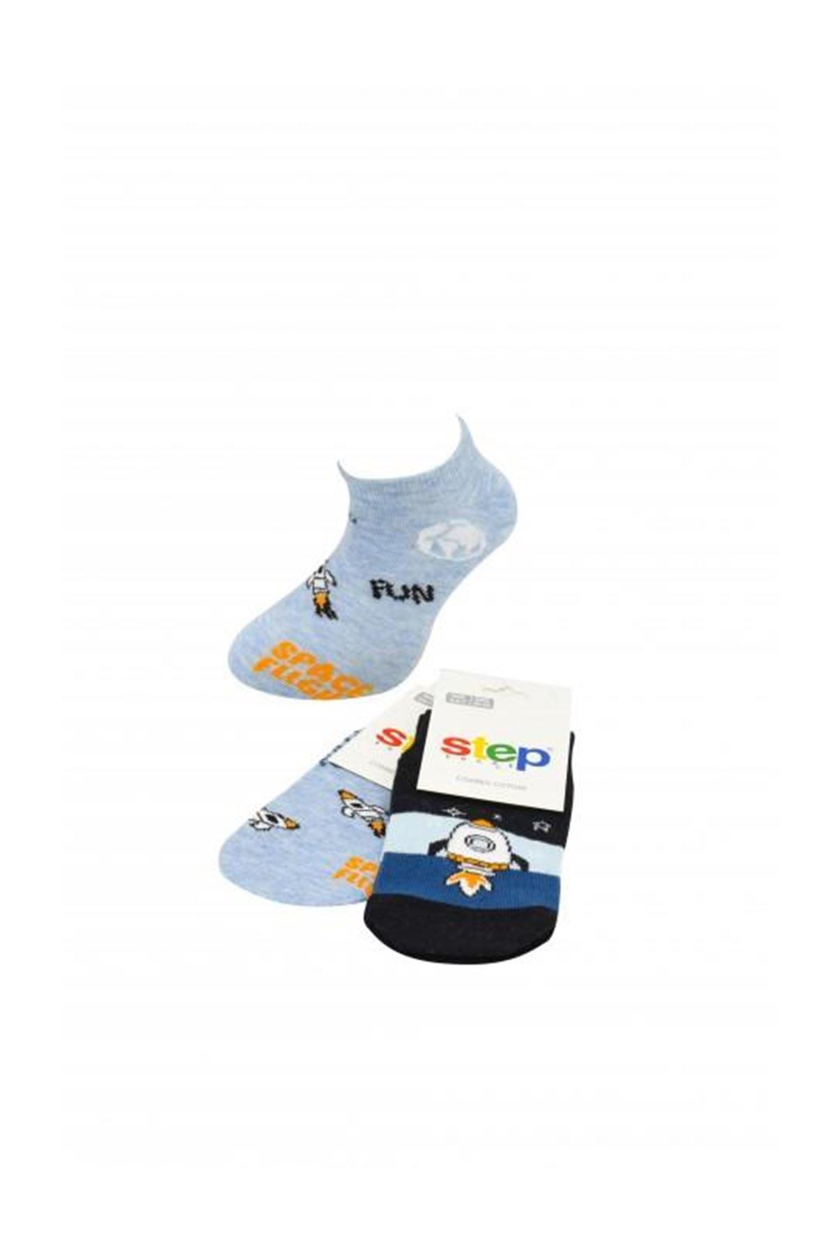 Step Space Patik Soket Çorap 3869 Karışık Renkli