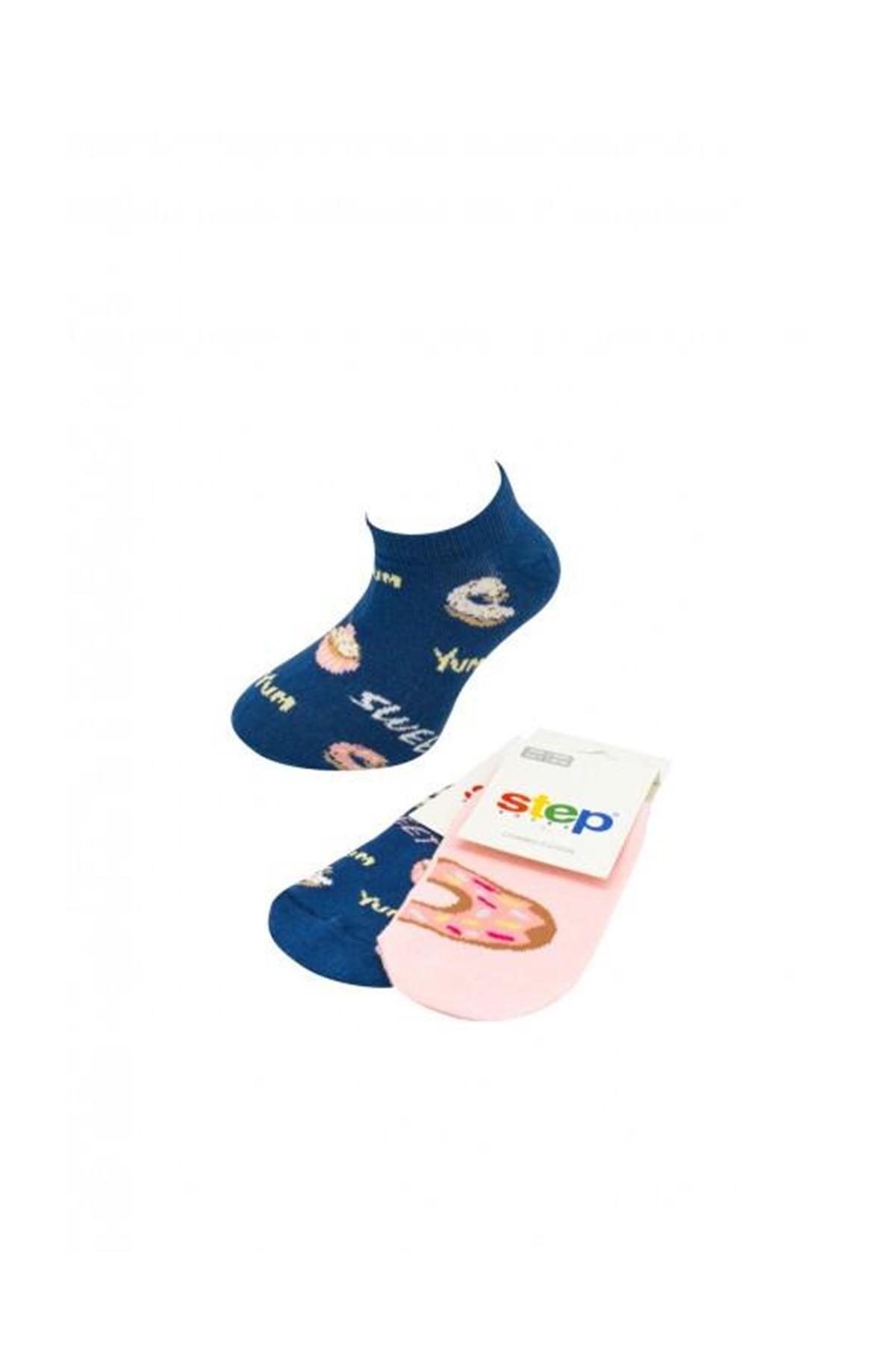 Step Doughnut Patik Soket Çorap 3843 Karışık Renkli